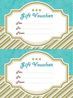 Homemade Gift Vouchers Templates Endearing Gift Vouchers  Gifts  Pinterest  Template Gift And Free Printable