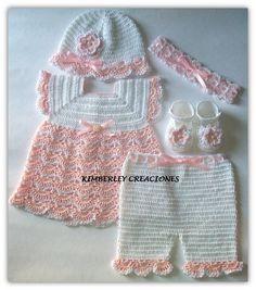 Conjunto Bebe crochet