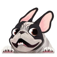 The major breeds of bulldogs are English bulldog, American bulldog, and French bulldog. The bulldog has a broad shoulder which matches with the head. French Bulldog Cartoon, French Bulldog Drawing, Pied French Bulldog, Brindle French Bulldog, French Bulldog Puppies, French Bulldog Wallpaper, Pugs, Animal Drawings, Cute Drawings