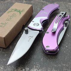 ELK RIDGE PINK LADIES TACTICAL POCKET KNIFE EDC Folding Women Purse Knives