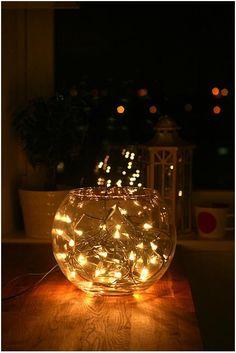 Fish bowl fairy lights
