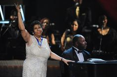 R-E-S-P-E-C-T the queen of soul. GRAMMY winner Aretha Franklin receives the Musical Arts Award at the 2014 BET Honors ceremony on Feb. 8 in Washington, D.C.