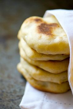 Oven-Baked Naan Bread - is easy to make and delicious to eat with soups, stews, salads, and lots of other yummy things!