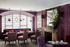 The Hotel Mansart, in central Paris. We rendezvous with our passengers in this delightful room. All Inclusive Cruises, Place Vendôme, Paris, Tour Guide, Relax, Mansart, Room, Star, Home Decor