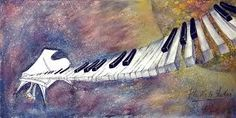 piano painting, music painting, music art, keyboard artwork Fly Me To The Moon artwork by Virgil C. Music Painting, Guitar Painting, Music Artwork, Love Painting, Music Pics, Piano Art, Music Illustration, Illustrations, Moon Photography