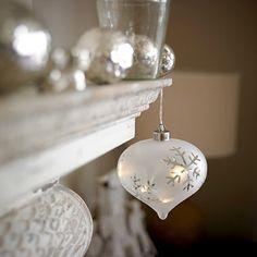 LED Snowflake Bauble - From Lakeland