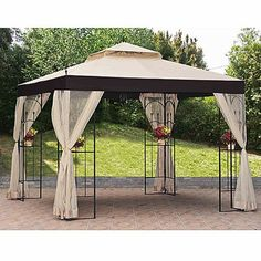 2010 Double Arch Gazebo Replacement Canopy And Netting
