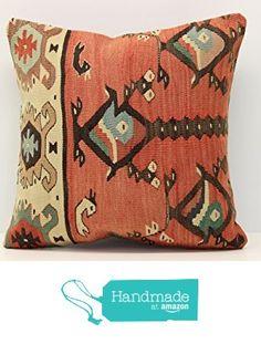 Anatolian kilim pillow cover 16x16 inch (40x40 cm) Turkish Kilim pillow cover Home Decor Throw Pillow cover Kilim Cushion Cover from Kilimwarehouse http://www.amazon.com/dp/B01D8SH8L4/ref=hnd_sw_r_pi_dp_W6A8wb1HVCHKB #handmadeatamazon