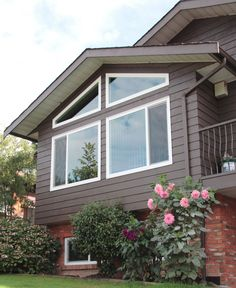Rake Windows that showcase your homes architecture and allow you to add more character to your home. Custom Windows, Design Consultant, Home Renovation, Architecture, Gallery, House Ideas, Homes, Inspiration, Character