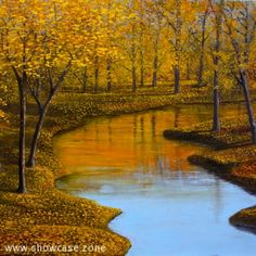 Maple Trees along a river