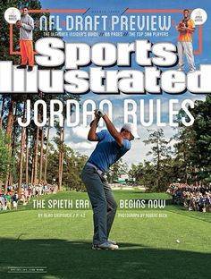 Masters winner Jordan Spieth reacts to being on the cover of Sports Illustrated. Sports Magazine Covers, Si Cover, Golf Books, Sports Illustrated Covers, Jordan Spieth, Golf Magazine, Award Winning Photography, Gym