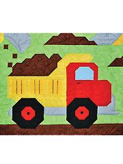 Baby & Kids Wall Quilt Patterns - Dump Truck Quilt Pattern