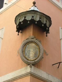 Madonnelle - One of many street shrines to the Madonna, in Rome, Italy