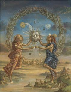 Arte Inspo, Gemini Art, Aquarius, Alchemy Art, Frida Art, Esoteric Art, Arte Obscura, Occult Art, Illustration