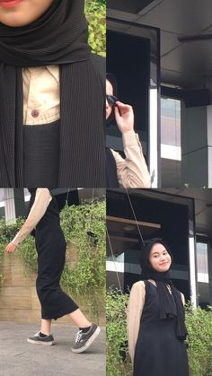 Winter Fashion Outfits, Hijab Fashion, Korean Fashion, Girl Fashion, Casual Hijab Outfit, Ootd Hijab, Casual Outfits, Hijab Tutorial, Foto Instagram