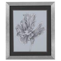 Bassett Mirror Silvery Blue Tulips III Framed Art - 9900-183CEC