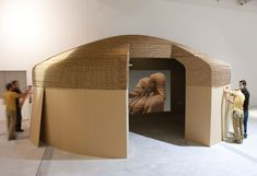 Cardboard Design, Cardboard Installation for Etruscans Exhibition at at Louvre Lens, by A4Adesign