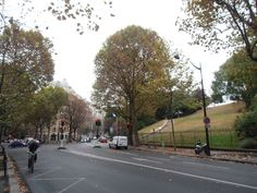 The Parc des Buttes-Chaumont seen from the street--from the blog of Stephane Kirkland, author of PARIS REBORN