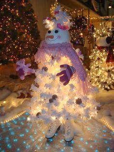 snowman christmas tree pinterest - Google Search