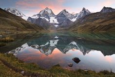 Carhuacocha Sunset  Cordillera Huayhuash, Peru Photo © copyright by Jack Brauer.