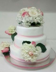 Torta matrimonio hortensias