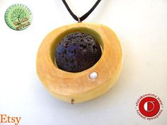 Wooden necklace, Olive Wood necklace, Inspirational jewelry, Natural jewelry, Lava necklace, Greek Olive Wood