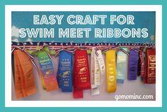 Easy Craft for Swim Meet Race Ribbons