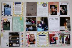 Project Life 2015 Week 6, right plus insert