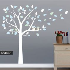 Hey, I found this really awesome Etsy listing at https://www.etsy.com/listing/211842718/nursery-tree-owls-and-birds-wall-sticker