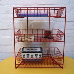 Vintage storage rack - vintageactually.co.uk