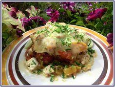 Lecker mit Geri: Gemüseauflauf mit Hähnchenfilet - Пилешко филе със зеленчуци на фурна