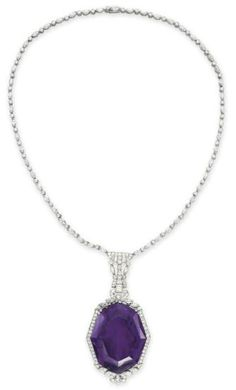 Amethyst and Diamond Necklace  Christie's