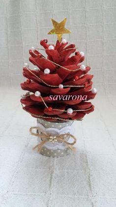 vianocny stromcek - v cervenom, Vianočné dekorácie