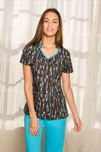 """Dickies Shaped V-neck Scrub Top in """"Box Texture"""" 82765-BXTX A Junior fit top features a shaped V-neck, shirring at the center front, angled pockets, front yoke, side vents and back darts for shaping. Center back length: 26"""". $20.25 #scrubs #scrubcouture #nurses"""
