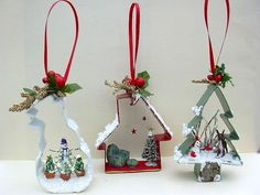 Regular sized cookie cutters with scale scenes by Joan.- Regular sized cookie cutters with scale scenes by Joanne Whisenhunt. Regular sized cookie cutters with scale scenes by Joanne Whisenhunt. Christmas Ornaments To Make, Christmas Projects, Winter Christmas, Holiday Crafts, Rustic Christmas, Christmas Decorations, Handmade Christmas Crafts, Christmas Ideas, Diy Ornaments