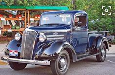 Beautiful blue '37 Chevy.