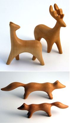 Wood animals at Rompstore.com