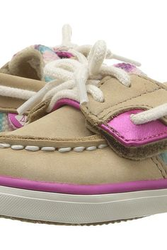 Sperry Kids SP-Bluefish Crib Jr. (Infant/Toddler) (Silver Cloud/Stripe) Girl's Shoes - Sperry Kids, SP-Bluefish Crib Jr. (Infant/Toddler), PG57658-155, Footwear Closed General, Closed Footwear, Closed Footwear, Footwear, Shoes, Gift, - Street Fashion And Style Ideas