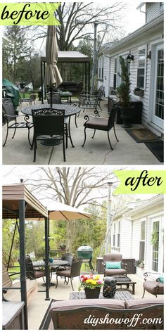Patio before & after @DIY Show Off #LowesCreator