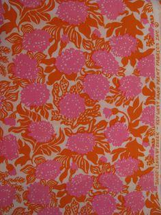 "Vintage Lilly Pulitzer fabric ""Dandi-Linda"" by Zuzek Key West Handprint Fabrics Inc."