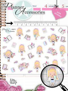 Sticker - Planner Girl Sticker NR873 - ein Designerstück von PlannerAccessories bei DaWanda