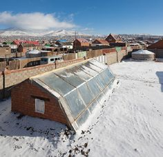 """Read nearly everything you'd ever want to know about pit greenhouses and see multiple examples, here"" -Sustainable Man share walipini greenhouse, pit greenhouse, solar greenhous, mongolia"