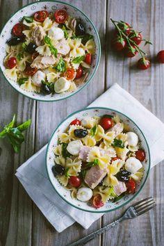 Fruit Salad, Cobb Salad, Paella, Risotto, Cooking Recipes, Healthy Recipes, Penne, Finger Foods, Pasta Salad