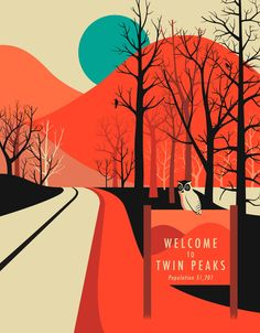 Poster | TWIN PEAKS von Jazzberry Blue | more posters at http://moreposter.de