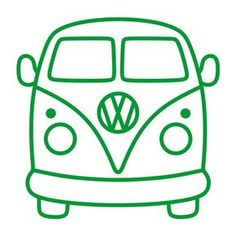 Arts And Crafts For Teens, Easy Arts And Crafts, Silhouette Cameo, Volkswagen Bus, Vw Camper, Deco Surf, Bus Drawing, Cutting Tables, Design Set