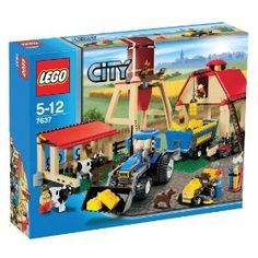 Compare prices on LEGO City Set Farm from top online retailers. Save money on your favorite LEGO figures, accessories, and sets. Lego City Sets, Lego Sets, Legos, Milk The Cow, Toy Barn, Lego Boards, Lego City Police, City Farm, Lego Modular