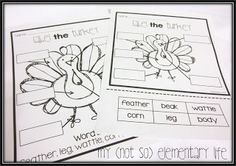 Labeling activity for Thanksgiving... a part of a craft and unit pack