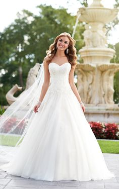 this elegant A-Line bridal gown from the Stella York designer wedding dress - http://www.aliexpress.com/item/this-elegant-A-Line-bridal-gown-from-the-Stella-York-designer-wedding-dress/32257603345.html