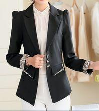Shrug pequeño traje de chaqueta blazers juego del desgaste del trabajo moda de manga larga capa blazers ropa de abrigo OL blazer ladies(China (Mainland))