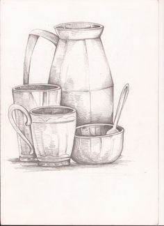 Still life sketching with pencil. For sale. If interested let me know. Still life Still Life Pencil Shading, Easy Still Life Drawing, Still Life Sketch, Bff Drawings, Pencil Art Drawings, Drawing Sketches, Pencil Sketching, Drawing Body Proportions, Still Life Artists